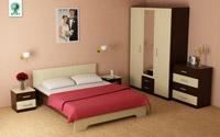 Изображение небольшого спального гарнитура