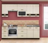 Изображение готовой кухни бежевого цвета