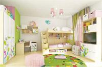 Изображение красивого комплекта для детской комнаты
