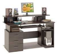 Изображение компьютерный стол с дополнительной полкой
