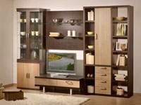 Изображение корпусной мебели в гостинной