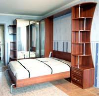 Изображение подъемной двухспальной кровати