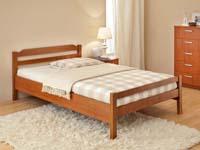 Изображение деревянной полутороспальной кровати