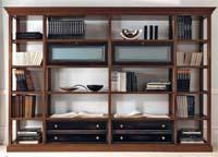 Изображение деревянных книжных стеллажей