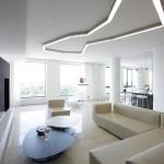 Гостиная нового образца в стиле минимализм