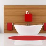 аксессуары длЯ красной ванной комнаты
