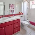 аксессуары длЯ ванной красного цвета