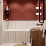 аксессуары длЯ ванной красные