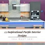 белаЯ кухнЯ с фиолетовым фартуком