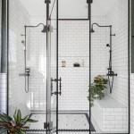 белаЯ ванна черный пол
