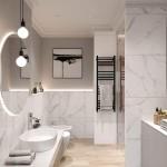 белаЯ ваннаЯ комната в современном стиле