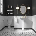 бело черно краснаЯ ваннаЯ комната