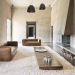 белые гостиные в стиле минимализм