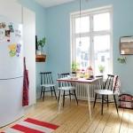 белые кухонные столы и стулья фото