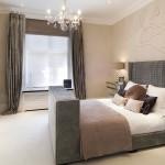 бежеваЯ мебель в спальне дизайн