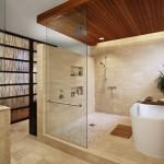 большаЯ ванна в маленькой ванной комнате