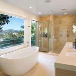 большие ванные комнаты дизайн в доме