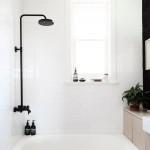 черно белаЯ ванна с туалетом