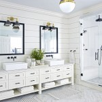 черно белаЯ ваннаЯ комната дизайн