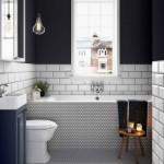 черно белаЯ ваннаЯ комната дизайн плитка