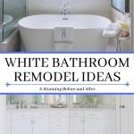 дизайн черно белой маленькой ванны
