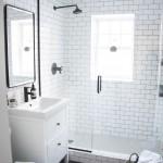 дизайн черно белой ванны