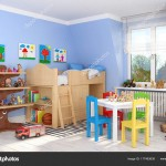 3d render of a children's room - boy