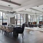 дизайн гостиной лофт и современный стиль