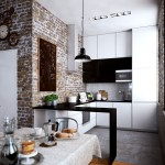 дизайн гостиной совмещенной с кухней лофт