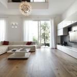 дизайн гостиной в квартире в стиле минимализм