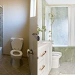 дизайн интерьера ванной комнаты с душевой кабиной