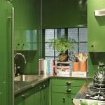 дизайн кухни бежево зеленый