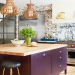 дизайн кухни фиолетового черный