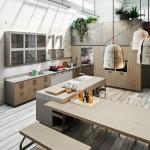 дизайн кухни гостиной лофт фото