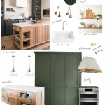 дизайн кухни гостиной зеленого цвета
