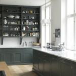 дизайн кухни серо зеленого цвета