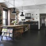 дизайн кухни столовой гостиной в стиле лофт
