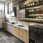 дизайн кухни студии в стиле лофт