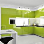 дизайн кухни темно зеленого цвета