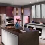 дизайн кухни в фиолетовых оттенках