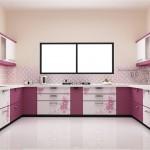 дизайн кухни в фиолетовых цветах