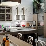 дизайн кухни в стиле лофт 10 м2