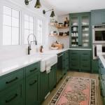 дизайн кухни в зелено желтых тонах