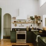 дизайн кухни в зеленом стиле фото