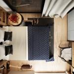 дизайн маленькой спальни с двумЯ окнами