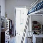 дизайн маленькой спальни с гардеробной