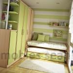 дизайн маленькой спальни с лоджией