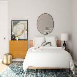 дизайн маленькой спальни в серых тонах