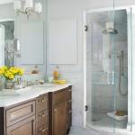 дизайн маленькой ванной комнаты с душевой