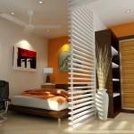 дизайн маленькой зеленой спальни